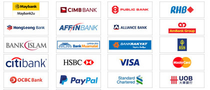 Easy Payment via Online Bank Transfer or Paypal